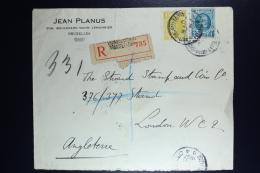 Belgium Registered Cover Brussels To London  1927, OPB  205 + 208 Wax Sealed - België