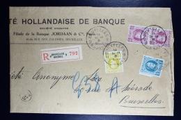Belgium Registered Cover Brussels Local  1926, OPB  195 + 205 + 208 - België