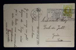 Belgium  Card Liege To Geneva  1928, OPB  205c
