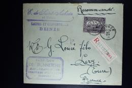 Belgium  Registered Cover DEINZE To Lery Fr 1921, OPB  145