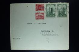 Belgium Cover Verviers Naar Amsterdam  1928, OPB  256 267 269