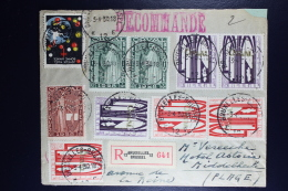 Belgium Registered Cover Brussels To Middelbeke  1930, OPB 258A 259A 260A 261A With Perforated Zigzag Line - België
