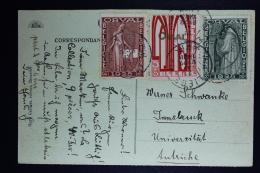 Belgium Card  Luik To Insbrück Austria  1928, OPB 258 + 260 + 261 First Orval