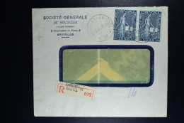 Belgium Registered Cover Brussels To Berlin 1930, OPB 262A Pair Zigzag Perforation First Orval - België