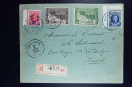 Belgium Registered Cover Hoboken To HAsselt 1928, OPB 206a Cornerpiece 247 249 250