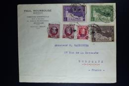 Belgium Cover Brussels To Bordeaux  1927, OPB 249 - 251  Caritas - België