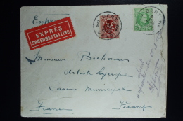 Belgium Express Cover Gent To Fecamp Fr.   1930, OPB 209 + 282 Absent ... - België