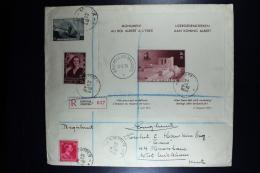 Belgium Registered Cover Kortrijk  Brussels  To West Wickham 1939  OPB Block 8 + 457a + 468 + 528 - Storia Postale