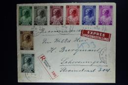 Belgium Registered Express Cover Brussels To Scheveningen Holland   1939  OPB 458 - 465 - Belgien