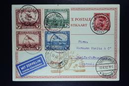 Belgium Zeppelin Card Brussels To Recife Brasil Zuleitungspost Zieger 150 1932 OPB PA1 +2+4 292 +picture - Posta Aerea
