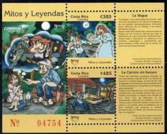 COSTA RICA 2012. América UPAEP: Mythes Et Légendes. Myths & Legends (bloc)