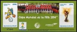COSTA RICA 2014. Coupe Du Monde De Football. World Soccer Cup (bloc)