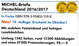 Michel-Briefe Katalog Deutschland 2016/2017 New 98€ Handbook With Special Cover + FDC Cards Letters Catalogue Of Germany - Oude Documenten