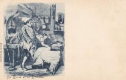 Grandville Artist Image, Le Cygne Et Le Cuisinier Swan And The Cook Fairy Tale Story Folklore, C1900s Vintage Postcard - Fairy Tales, Popular Stories & Legends