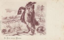 Grandville Artist Image, Le Loup Devnu Berger The Wolf Becomes Shepherd Fairy Tale Folklore, C1900s Vintage Postcard - Fairy Tales, Popular Stories & Legends