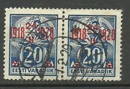 Estland Estonie Estonia 1928 Michel 72 In Pair O Võru - Estonia