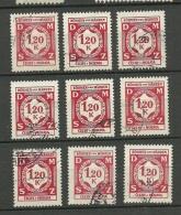 Deutsches Reich Occupation Böhmen & Mähren 9 Exemplares O - Occupation 1938-45