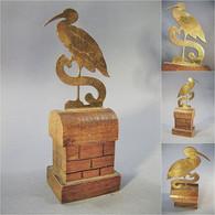 ~ CIGOGNE SOUVENIR D'ALSACE - Oiseau Statue Art Populaire - Autres