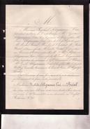 PARIS Judaica Mathilde BREAL épouse Raphaël SELIGMANN-LUI 50 Ans 1881 Lettre Faire-part Mortuaire - Décès