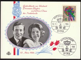 Germany Hitzacker 1966 / Princess Beatrix And Prince Claus Of Netherlands / Crown - Case Reali