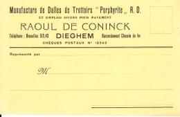 MACHELEN / DIEGEM Reclamekaart Manufacture De Dalles De Trotoire - Machelen