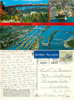 Sault Ste Marie, Ontario, Canada Postcard Posted 1987 Stamp - Ontario