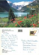 Lake Louise, Alberta, Canada Postcard Posted 1993 Stamp - Lac Louise