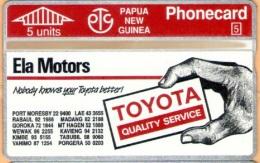 Papua New Guinea - PNG-19, Toyota Ph 50 8203, CN:204E, 10.000ex, 7/92, Mint As Scan