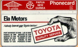 Papua New Guinea - PNG-20a, Toyota Ph 57 9367, CN:311D, 20.000ex, 1993, Used As Scan - Papua New Guinea