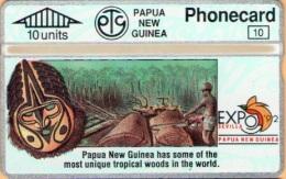 Papua New Guinea - PNG-16a,Tropical Woods, CN:209C, 10.000ex, 5/92, Mint As Scan - Papua New Guinea