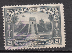##11, Honduras, Pyramide, Pyramid, Temple Maya, Antiquité, Antiquity, Indiens D'amérique, Amérindien, Amerindian, UPU, - Honduras
