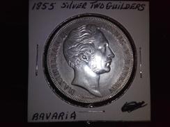 BAVARIA 1855 2 GUILDERS GERMAN STATE  HIGH GRADE SILVER RARE COIN INV#C10131 - [ 1] …-1871: Altdeutschland