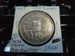 IRAN 1927 5000 DINARS  HIGH GRADE SILVER RARE COIN INV#C10141 - Iran