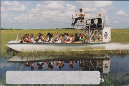 Florida Everglades Air Boat Tours And Attractions Safari Park United States Grote Kaart Grand Format - Etats-Unis