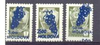 "1994.Moldova, Overprints ""Grape"" On Soviet Stamps, Issue III, Set,  Mint/** - Moldavia"