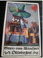 MÜNCHEN Oktoberfest Beer Used 1912 - Germania