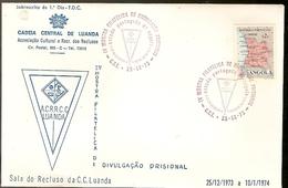 Angola & FDC IV Philatelic Show In Prison, Central Prison Of Luanda 1973 (382) - Angola