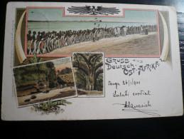 - DOA Gruss Deutsch Ost-Afrika - Tanga 26.01.1901 To Rare Cherso Island Destination - Germania
