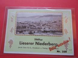 ETIQUETTES VINS LIESERER NIEDERBERG  1949  ER   *****    A    SAISIR  **** - Collections & Sets