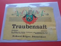 ETIQUETTES VINS TRAUBENSAFT   RICHARD HILGER*****    A    SAISIR  **** - Collections & Sets