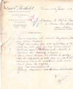 """Lettre """"Ets Berthelot"""" à Vaucouleurs (Meuse), Pour Chalon-sur-Saône (1925) - Old Paper"""