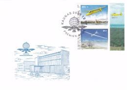 Litauen, 2003, 833/35, Luftfahrtmuseum. FDC - Lithuania