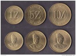 Zaire 3 Coins Set 1987-1988 - Zaïre (1971-97)
