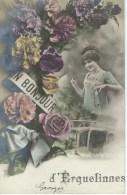 Un Bonjour D'ERQUELINNES - Cachet De La Poste 1912 - Erquelinnes