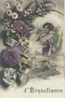 Un Baiser D'ERQUELINNES - Cachet De La Poste 1912 - Erquelinnes