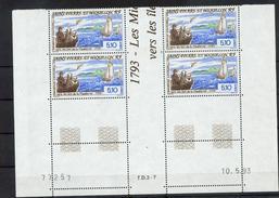 Saint Pierre Et Miquelon  579 Expatriation Bloc De 4 Coin Daté 10 5 93 Neuf ** MNH Sin Charmela - St.Pierre & Miquelon