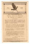 CPA MILITARIA 1914 AUX COLOMBOPHILES MORTS POUR LA FRANCE PIGEON DE VERDUN FORT DE VAUX - NON CIRCULÉE - 2 Scans - - Guerra 1914-18