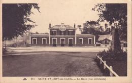 CPA - 76 - SAINT VALERY EN CAUX - La Gare - Vue Extérieure - 214 - Saint Valery En Caux