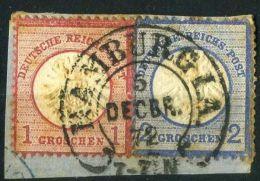 ALLEMAGNE ( POSTE ) : Y&T N° 16 ET 17 AVEC  UNE  TRES  BELLE  OBLITERATION , A  VOIR . - Germany