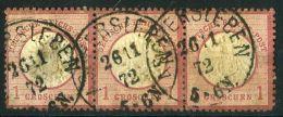 ALLEMAGNE ( POSTE ) : Y&T N° 16 X 3  AVEC  UNE  TRES  BELLE  OBLITERATION , A  VOIR . - Germany